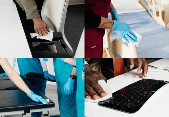 disinfecting surfaces for environmental hygiene